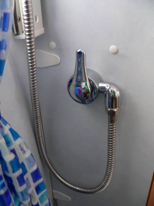 dann kommt die montage der duschhalterung mit duschbrause - Wohnmobil Dusche Einbauen